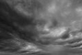 Ominous clouds as if armageddon the grey storm over horizon Stock Photography