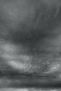 Ominous storm clouds as if armageddon the grey over horizon Royalty Free Stock Photo