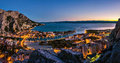 Omis - aerial view at night