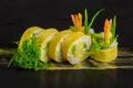 Omlet sushi Royalty Free Stock Photo