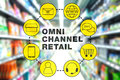 Omni Channel Retail Marketing Concept Royalty Free Stock Photo