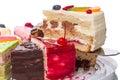 Omoplate avec un morceau de gâteau Photo stock