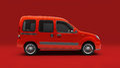 сompact cargo van light commercial small escort in studio Royalty Free Stock Photo