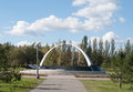 Omsk, Russia - September 21, 2016: Memorial to victims of local wars Royalty Free Stock Photo