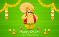 Onam background illustration of king mahabali in Stock Photo