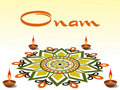 Onam celebration,  illustration Stock Images