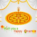Onam greetings easy to edit vector illustration of Stock Photos