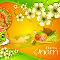 Onam wallpaper illustration of of kerala Stock Photos