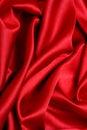 Onda roja del satén Fotos de archivo libres de regalías