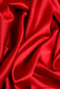 Onde rouge de satin Photos libres de droits