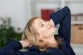 Onderneemster relaxing Stock Foto's
