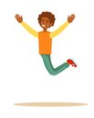 One african man jumping Royalty Free Stock Photo