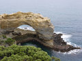 One of the arches of london arch is natural in port campbell national park in australia Royalty Free Stock Image