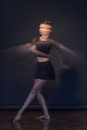 One ballerina motion blur moving Royalty Free Stock Photo