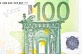 One banknote euro detail of Royalty Free Stock Photo