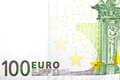 One banknote euro detail of Royalty Free Stock Images