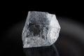 One big ice cube isolated on black Royalty Free Stock Photo