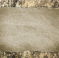 One blank frame on concrete wall. Royalty Free Stock Photo