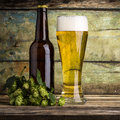 One bottle of beer Royalty Free Stock Photo