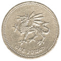 One british Pound coin Royalty Free Stock Photo