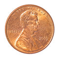 One cent coin Royalty Free Stock Photo