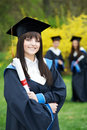 One cheerful graduate girl Royalty Free Stock Photography