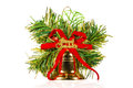 One christmas bell with ornaments Royalty Free Stock Photo