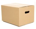 One closed box on the white background Royalty Free Stock Photo