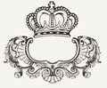 One color crown crest composition ornate Stock Images