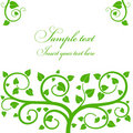 One color leaf and branch pattern greetings card Stock Photography