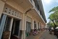 One corner fruit hawker stalls around Pasar Gede Surakarta Royalty Free Stock Photo