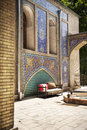 One corner in golestan palace tehran a very famous iran history locates Stock Photos