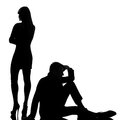One couple man and woman dispute conflict Royalty Free Stock Photo