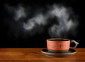 One cup of hot tea Stock Images