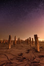 One day on mars cosmos concept stars and space unusual landscape Royalty Free Stock Photos