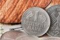 One deutsche mark bundesrepubik deutschland frontside coin Stock Photos