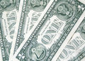 One dollar banknotes background the from some Royalty Free Stock Image