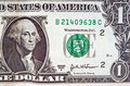 One dollar bill Stock Photo