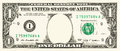 One dollar bill with copy space instead of washington Royalty Free Stock Photography