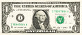 One dollar bill front of a Royalty Free Stock Images