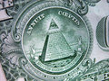 One Dollar Bill-Great Seal-Pyramid Royalty Free Stock Photos