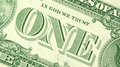 One dollar bill macro detail Royalty Free Stock Images