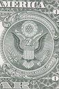 One dollar bill reverse macro very sharp picture Stock Photography