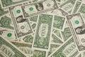 One dollar bills Royalty Free Stock Photo