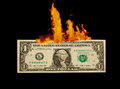 A one dollar to burn Royalty Free Stock Photo