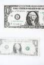 One dollars bill Royalty Free Stock Photo