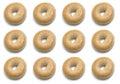 One Dozen Bagels Stock Image