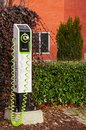 One electric car charger outdoor
