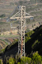 One electricity pole on a mountain in tenerife spain Stock Photo