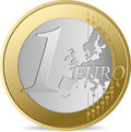 One Euro. Stock Photography